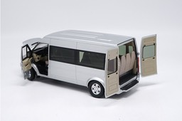 New-1-18-Diecast-Model-For-Ford-Transit-Silver-Van-MPV-Alloy-Toy-Car-Collection-For